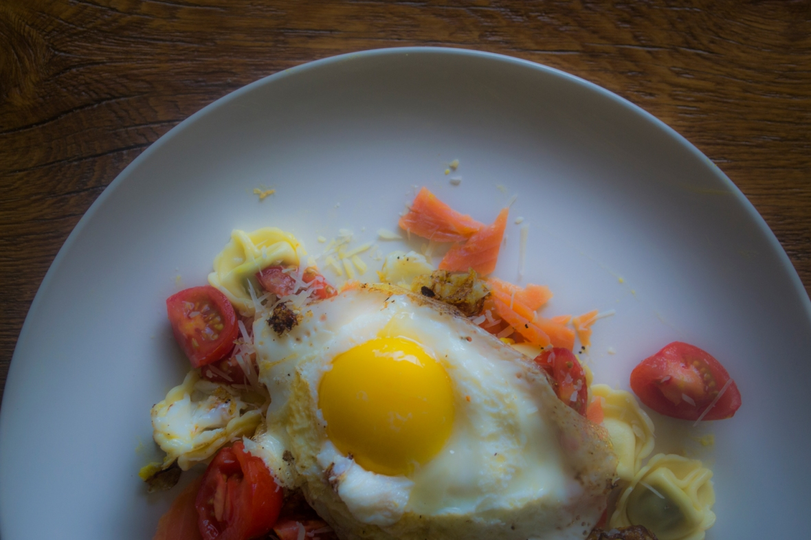 With Sunny Side up Fried Egg on top